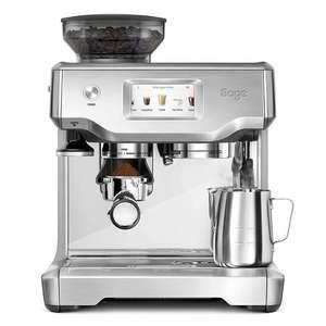 Sage SES880 Siebträger-Espressomaschine (gebürsteter Edelstahl, Touchscreen Bedienung)