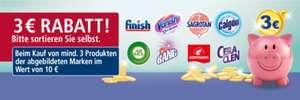Real 3 Euro Rabatt beim Kauf von mindestens 3 Produkten der abgebildeten Marken im Wert von 10 Euro ab 26.07