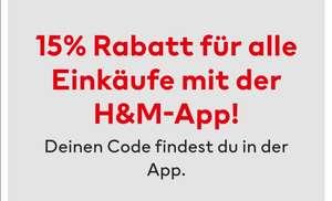 H&M 15 % Reduzierung in der App