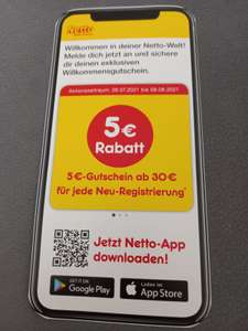 [Netto MD] 5€ Rabatt ab 30€ MEW für jede Neuregistrierung in der Netto App
