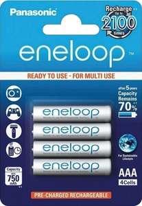 Panasonic eneloop Ni-MH Akku, AAA Micro, 4er Pack, 750 mAh (Otto) / Versandkostenfrei mit Otto Liefer-Flat