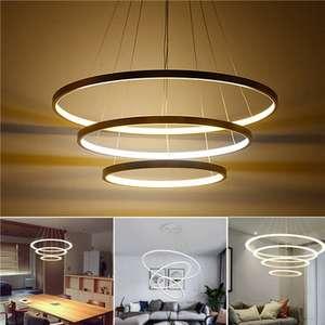 LED Ring Pendelleuchte/Ringleuchte Dimmbar - Warmes Licht