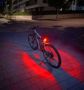 FISCHER Akku Rücklicht TWIN mit Bodenbeleuchtung (Prime)