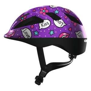 ABUS Helm Smooty Kinderhelm Fahrradhelm purple kisses Gr. S o. M [Babyone Filialen]