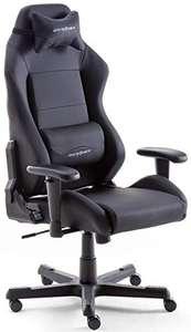 Robas Lund DX Racer 3 Gamingstuhl/Bürostuhl mit Wippfunktion, höhenverstellbar, in Schwarz