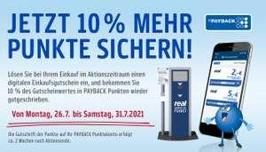 [real,-] 10% Payback Extrapunkte bei Punkteeinlösung eines digitalen Einkaufsgutscheins - vom 26.07. - 31.07.2021