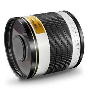 Walimex Pro 500mm 1:6,3 Spiegel-Teleobjektiv für Nikon F Objektivbajonett (Vollformat geeignet, inkl. Schuztdeckel)