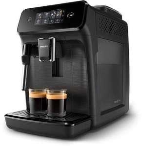 PHILIPS Kaffeevollautomat EP1220/00 mit Milchaufschäumer, Keramikmahlwerk und herausnehmbarer Brühgruppe in schwarz für 229€