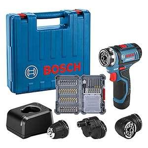 Bosch Professional 12V Akku Bohrschrauber GSR 12V-15 FC (inkl. Akku, Ladegerät, 3x Bohrfutteraufsätze, 40tlg. Zubehörset)