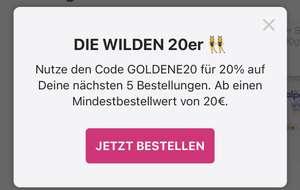 5x 20% bei Flink MBW 20€
