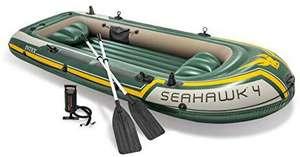 Intex Seahawk 4, Schlauchboot Set inkl. Paddel und Pumpe - 351 x 145 x 48 cm - 4-teilig - Grün [Amazon Marketplace]