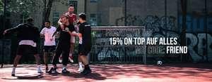 [11Teamsports] Zum Tag der Freundschaft 15 % auf alles, außer aktuelle Werbung / VSK Frei ab 30 €