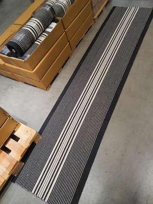 [Lokal Karlsruhe] IKEA Teppich Läufer flach gewebt, schwarz/weiß70x300 cm