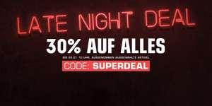 Snipes Late Night Deal - 30% auf alles bis 29.07. 10 Uhr