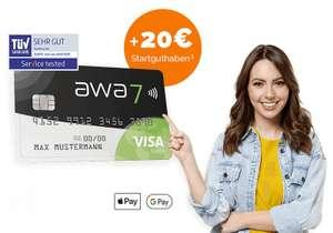 awa7 & Shoop dauerhaft kostenlose Visa Karte mit 20€ Startguthaben+20€ Cashback+100 gepflanzte Bäume