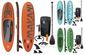 Makani Aufblasbares Stand Up Paddle Board SUP bis 150kg inkl. Rucksack, Pumpe, Alu-Paddel usw. 320x82x15cm für 237,40€ inkl. Versandkosten