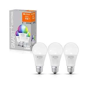LEDVANCE SMART+ LED E27 RGB 60Watt 3er Set