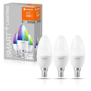LEDVANCE SMART+ E14 Kerze 3er Pack - B40 RGBW WiFi