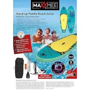 Stand-Up Paddle-Board für Kinder, 244 x 76 x 15 cm SUP-Set mit Paddel, Pumpe, Tasche