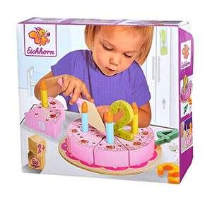 Eichhorn - Geburtstagskuchen Set enthält 1xKuchenheber, 4xZahlen, 8xKuchenstücke, 4xKerzen, 18 tlg, Kiefernholz für 9€ (Amazon Prime)