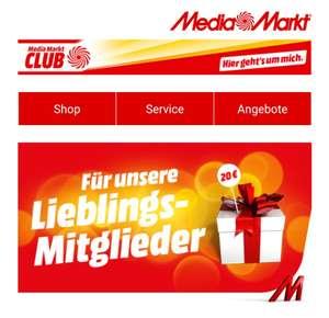 [Mediamarkt - Club] Personalisierte E-Mail mit z.B. 20€ Coupon