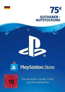 75€ PlayStation Store Guthaben für 57,49€ (PSN Deutschland, Faktor 0.767)