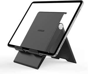 """[Prime] Ugreen 20436 Tablet-Ständer (für Modelle bis 12.9"""", Winkel von 0-100° anpassbar, bis 37mm höhenverstellbar, Ladekabel-Aussparung)"""