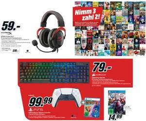 HyperX Cloud II Headset - 59€   Sony DualSense Controller Cosmic Red + Ratchet & Clank: Rift Apart - 91,28€   Marvel's Avengers PS4 - 14,99€