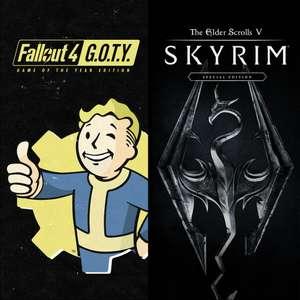 Skyrim Special Edition + Fallout 4 G.O.T.Y Bundle (PC) für 13,48€ (Microsoft Store US)