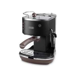 De'Longhi Icona Vintage ECOV 311.BK, Siebträger Espressomaschine, 1,4 Liter Wassertank, 2 Siebe für Kaffeepulver und Pads [Cyberport]