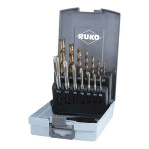 RUKO 14-teiliger Maschinengewindebohrer-Satz HSS Co 5 Form B
