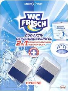 WC FRISCH Duo-Aktiv Reinigungswürfel für Wasserkästen, 1 x 2 Stück, Reinigungsschaum und frischer Duft Gästeklodealz