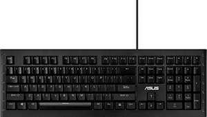 Asus GK1100 beleuchtete Gaming Tastatur programmierbar, Cherry-MX-Blue, RGB, LED) schwarz