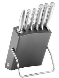 BSF CHICAGO MESSERBLOCKSET Küchenmesser 7-TLG, GRAU