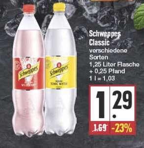 (Lokal) EDEKA Schweppes Tonic Water verschiedene Sorten 1,25 Liter