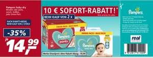 2 Dreier-Pack Pampers kaufen und 10 Euro Sofort-Rabatt erhalten (Einzelpreis 14,99€) ab 02.08 Real