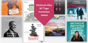 Thalia Hörbuch Abo 90 Tage gratis testen - bis zu 2 Hörbücher im Monat
