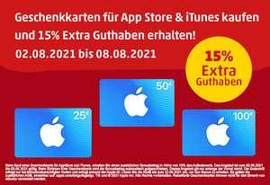 Penny Kartenwelt: 15% Extra Guthaben für Apple AppStore und iTunes Geschenkkarten