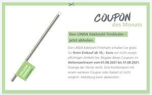 Linda Apotheken: gratis Edelstahl-Trinkhalm für Kinder (ab 10€ Einkaufswert)
