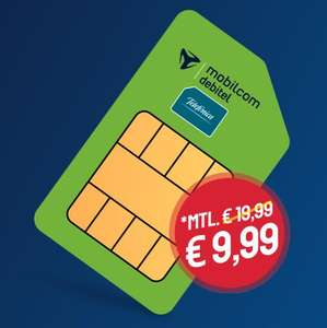 [mtl. kündbar] 12 GB LTE Telefonica green LTE Tarif von mobilcom-debitel (Allnet- & SMS-Flat, VoLTE, WLAN Call) für mtl. 9,99€ + 9,99€ AG