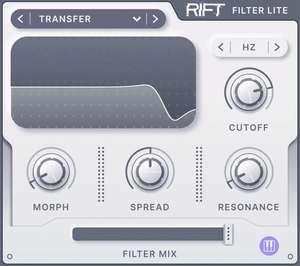 Rift Filter Lite, Windows, Mac kostenlos (VST, DAW)