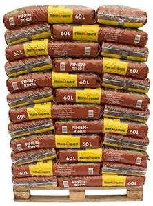 Floragard Mulch Pinienrinde 25-40 mm 39 x 60 L auf Palette, grobe Struktur 2340 Liter (1l = 14,5Cent)