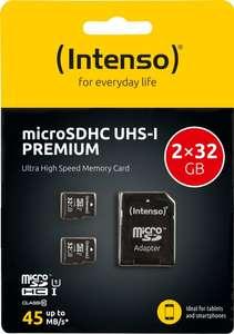 Speicherwoche - Tag 2: z.B. 2x Intenso Premium microSDHC 32GB - 8,99€ | SanDisk Extreme PLUS SDXC 128GB - 22€
