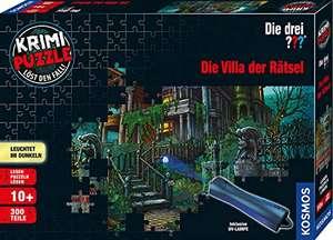 KOSMOS - Krimi Puzzle: Die drei ??? - Die Villa der Rätsel, Leuchtet im Dunkeln, 300 Teile mit UV-Lampe für 9,99€ (Amazon Prime)