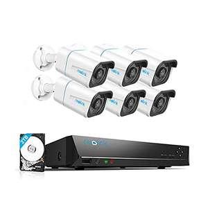 Reolink 4K Überwachungskamera Set mit 6X 8MP RLC-810A PoE IP Kamera mit smarter Person- und Fahrzeugerkennung und 2TB HDD NVR; RLK8-810B6-A