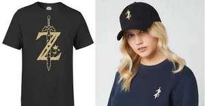 The Legend Of Zelda Logo Bundle bestehend aus T-Shirt (Gr. S - XXL + Kindergrößen, 2 verschiedene Motive) und Mütze (Beanie oder Cap)