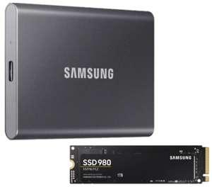 Samsung Portable SSD T7 1TB für 109€ inkl. Versandkosten / Samsung SSD 980 M.2 1TB für 99€