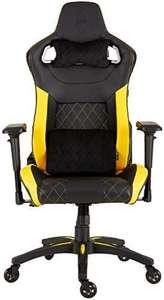 Corsair T1 Race (Kunstleder Gaming Rennsport Büro Stuhl, EinfacheMontage,Ergonomischschwenkbar,verstellbareSitzhöhe & 4D Armlehnen