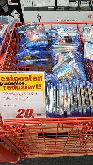 PS4 Titel reduziert auf je 20€ - Media Markt Heidelberg (Herzstr.)