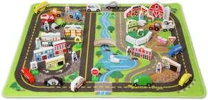 Melissa & Doug | Deluxe Road Rug Play Set | Spielteppich mit 49 Spielfiguren aus Holz [90 x 100 cm]